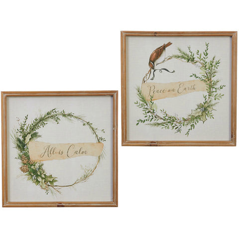 Holiday Wreath Framed Prints - Two Styles