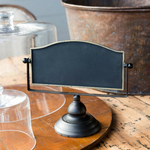 Horizontal Chalkboard with Metal Stand