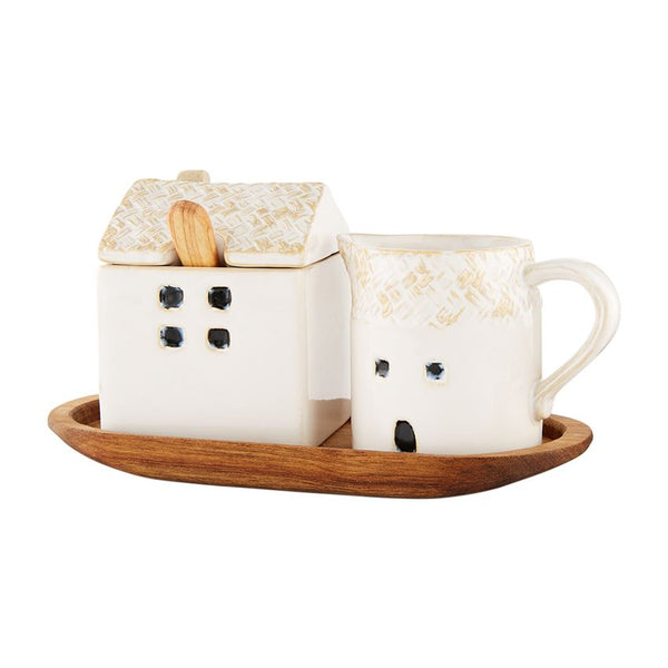 """House"" Sugar and Creamer Set"