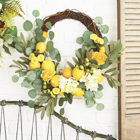 Lemon and Floral Wreath
