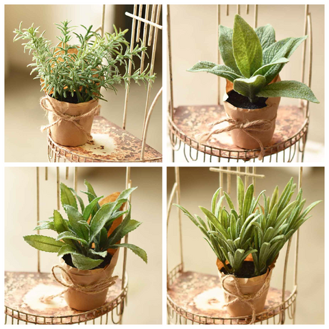 Paper Wrapped Faux Plants - Four Styles