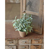 Faux Potted Sage Bush