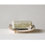 Stoneware Soap Dish with Bird