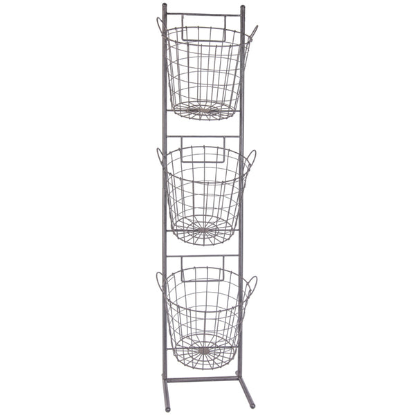 Three Tiered Basket Stand