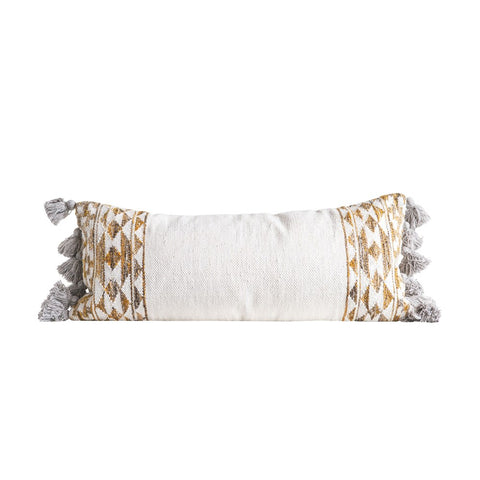 Chelsea Hand Woven Wool Pillow with Tassels