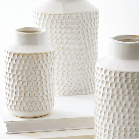 Textured Ceramic Vase - Three Sizes