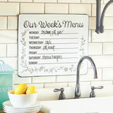 Weekly Menu Wall Sign