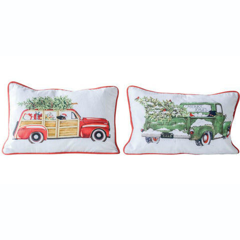 Automobile Decorative Holiday Pillows - Set of Two