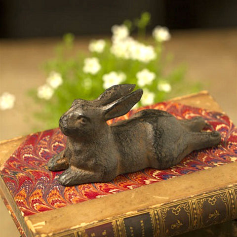 Cast Iron Resting Rabbit