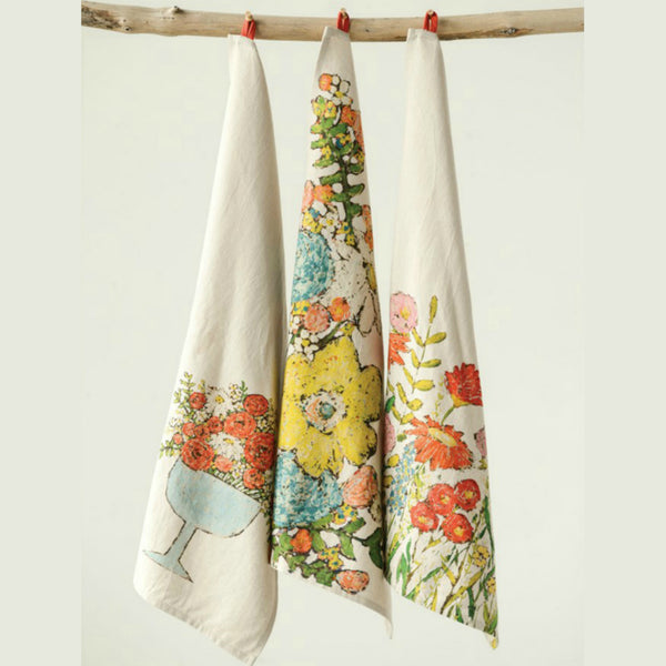 Floral Tea Towels - Set of Three