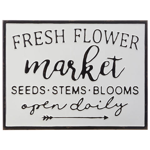"""Fresh Flower Market"" Wall Art"