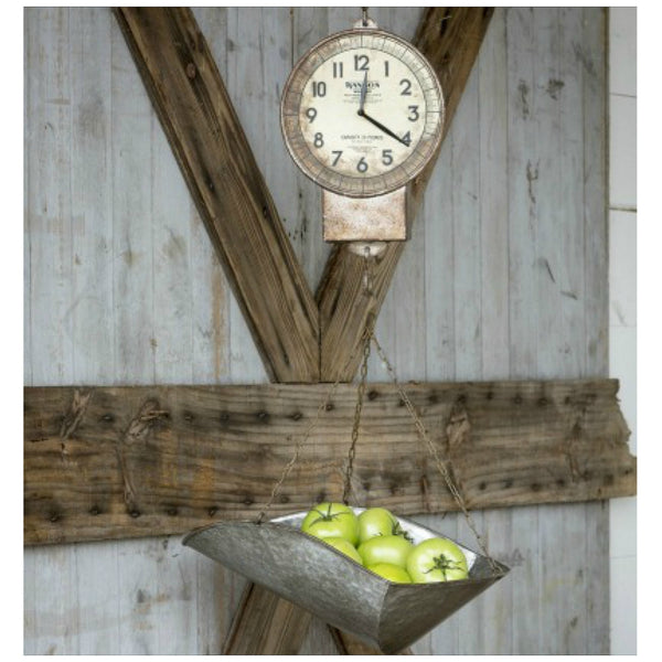 Vintage Inspired Hanging Produce Scale Clock