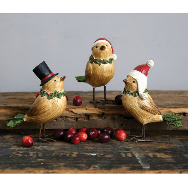 Holiday Birds - Set of Three
