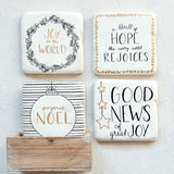 Joyous Noel Holiday Coasters - Set of Four