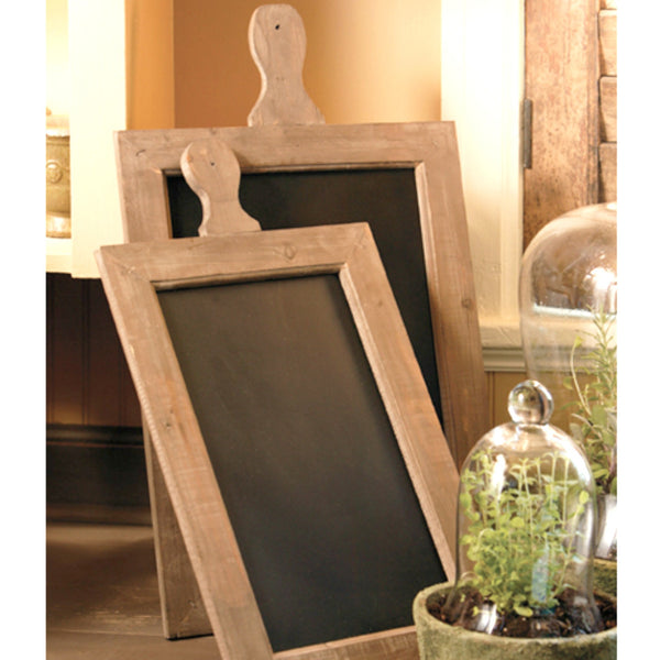 Paddle Chalkboard Set of Two with Rustic Wooden Frames