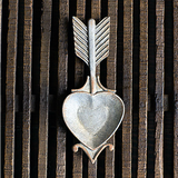 Heart with Arrow Jewelry Bowl made from Pewter