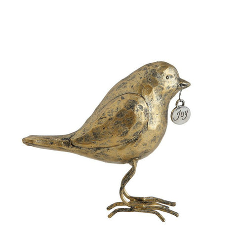 Gold Bird with Charm