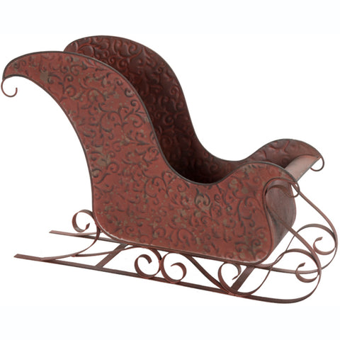 Rustic Red Metal Sleigh