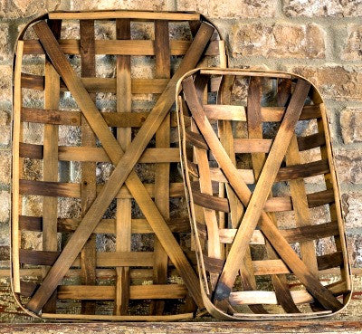 Vintage Inspired Tobacco Baskets-Set of Two