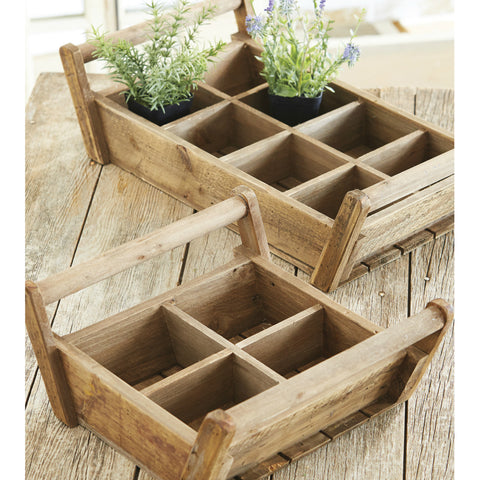 Rustic Wooden Garden Crate - Two Sizes