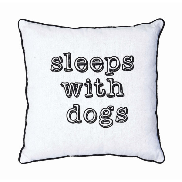 """Sleeps with Dogs"" Pillow"