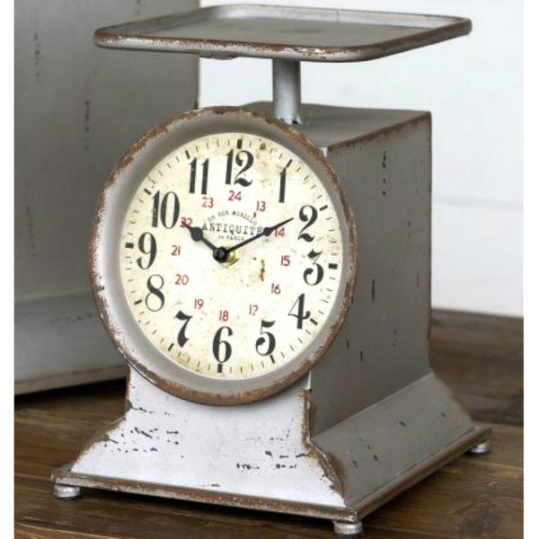 Countertop Grocery Scale Clock, Vintage Inspired