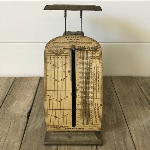 Vintage Pelouze National Scale Postal with Industrial Style Graphics
