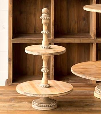 The Aspen Two Tiered Wooden Farmhouse or Cottage Tray