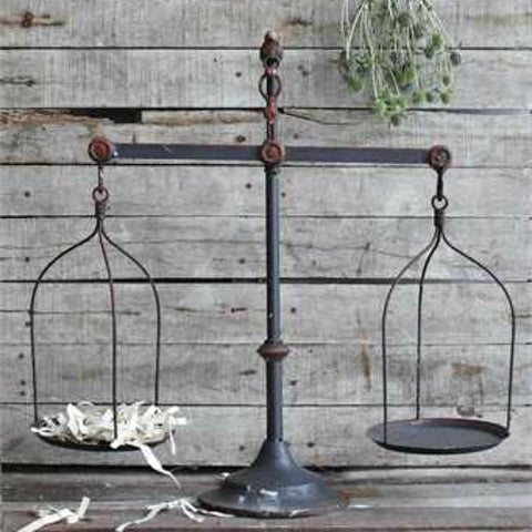 Antique Style Balance Scale with Bird Finial