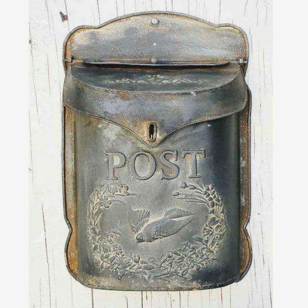 Vintage Inspired Embossed Metal Mailbox
