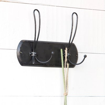 Black Metal Vintage Style Coat Rack