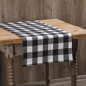Black and White Buffalo Check Table Runner for the holidays or a casual rustic table setting