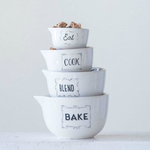 Bakery Stoneware Measuring Cups - Set of Four