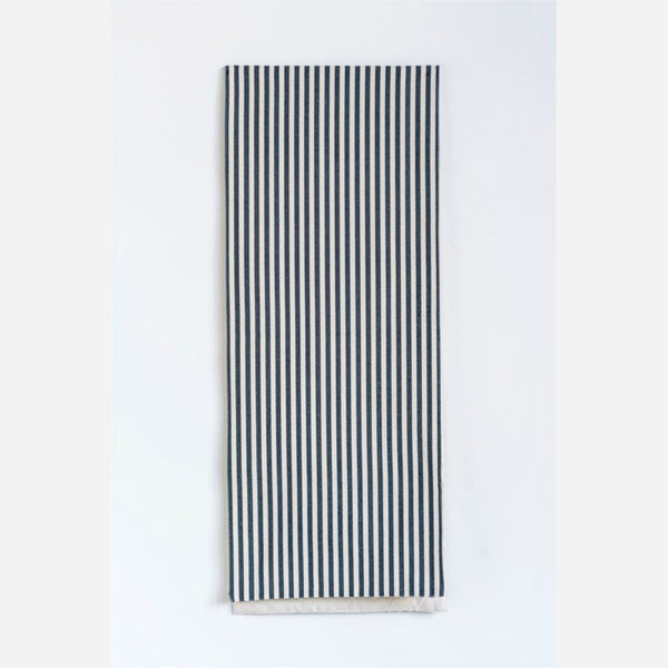 Black and White Striped Table Runner