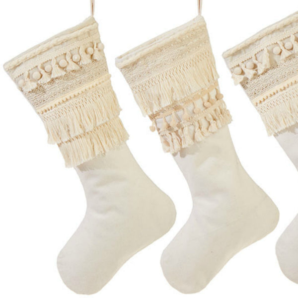Boho Holiday Stocking - Set of Two