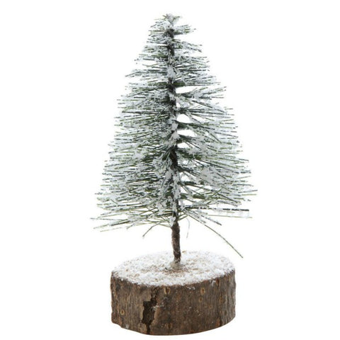 Snowy Bottle Brush Tree - Set of Two