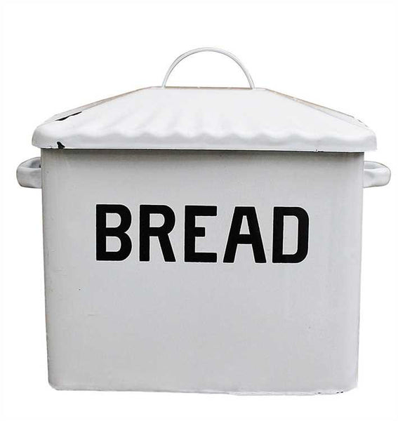 Vintage Inspired Enamel Bread Box