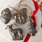 Vintage Inspired Candy Mould Ornaments Set of Four
