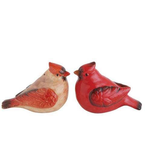 Ceramic Cardinal Salt and Pepper Shaker Set