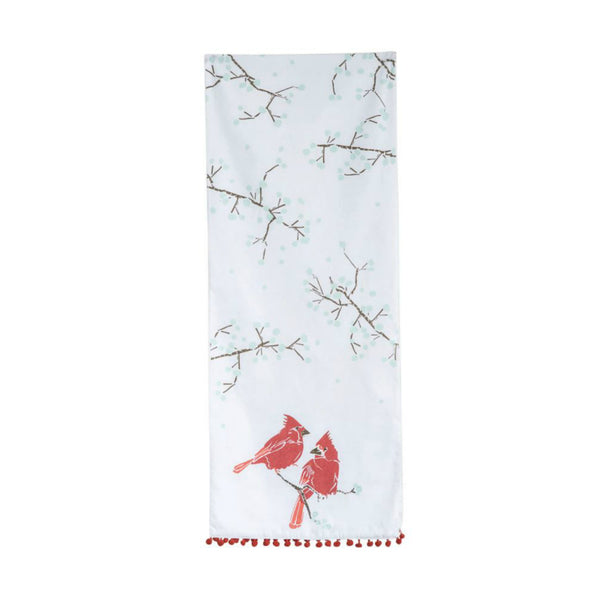 Cotton Table Runner with Cardinals