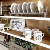 Farmhouse, Cottage or Shabby Chic style Rustic Metal Chicken Feeder Plate Rack