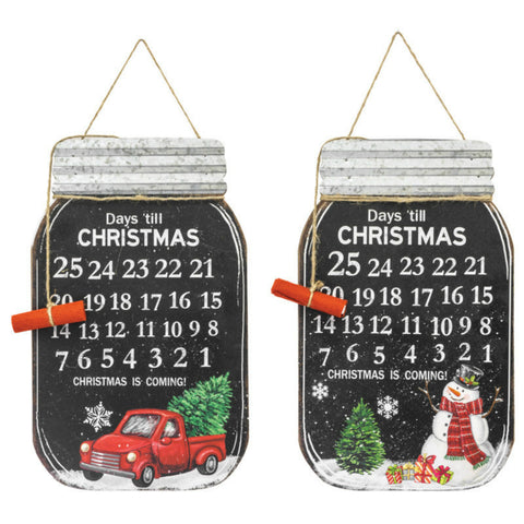 Christmas Jar Holiday Countdown - Two Styles