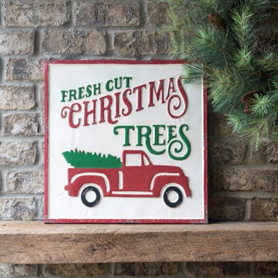 Christmas Tree and Truck Wall Sign
