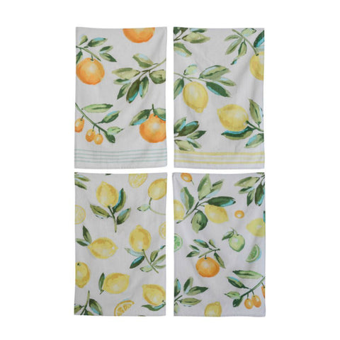 Citrus Tea Towels - Set of Four