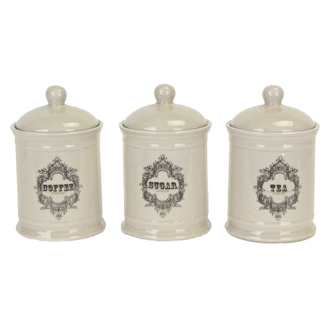 Coffee, Tea, Sugar Canisters - Set of 3