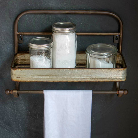 Metal Towel Rack with Shelf