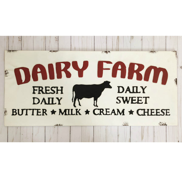 Metal Dairy Farm Sign