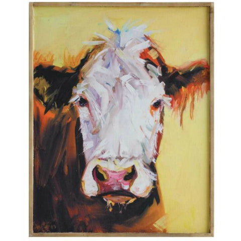 Daisy Rae Framed Cow Artwork