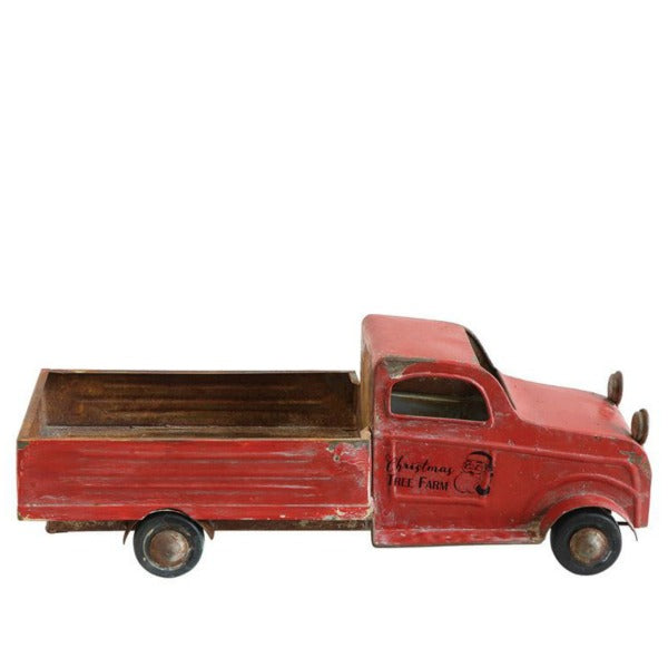 Decorative Metal Vintage Inspired Red Holiday Truck