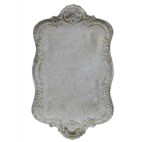 Distressed Tin Decorative Serving Tray
